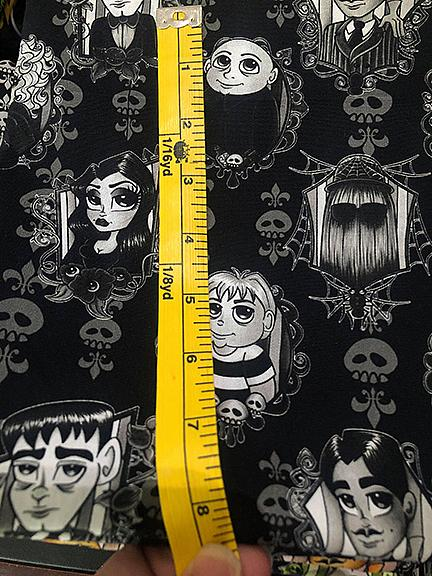 Addams Black And White Woven
