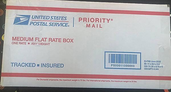 October 2021 Scrap Pack MEDIUM FLAT RATE BOX